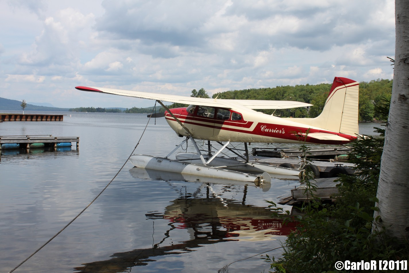 Flying over Moosehead Lake and Lobster Lake, Maine   SightRaider